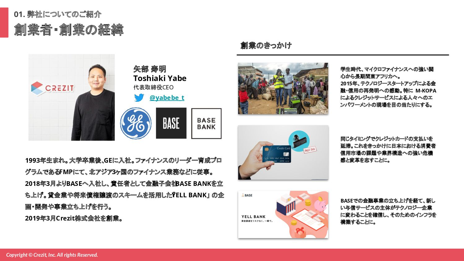 Copyright © Crezit, Inc. All rights Reserved. 会...
