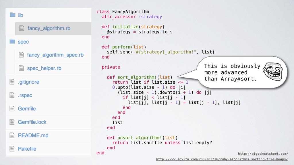 class FancyAlgorithm attr_accessor :strategy de...
