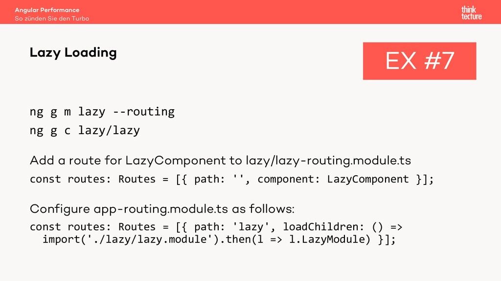 ng g m lazy --routing ng g c lazy/lazy Add a ro...