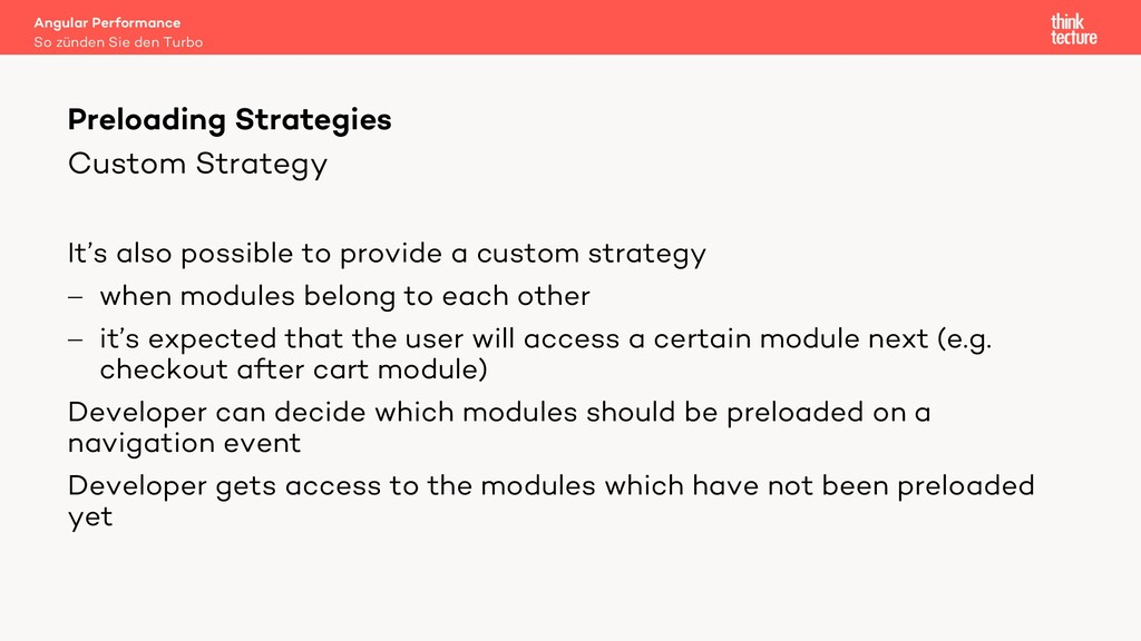 Custom Strategy It's also possible to provide a...