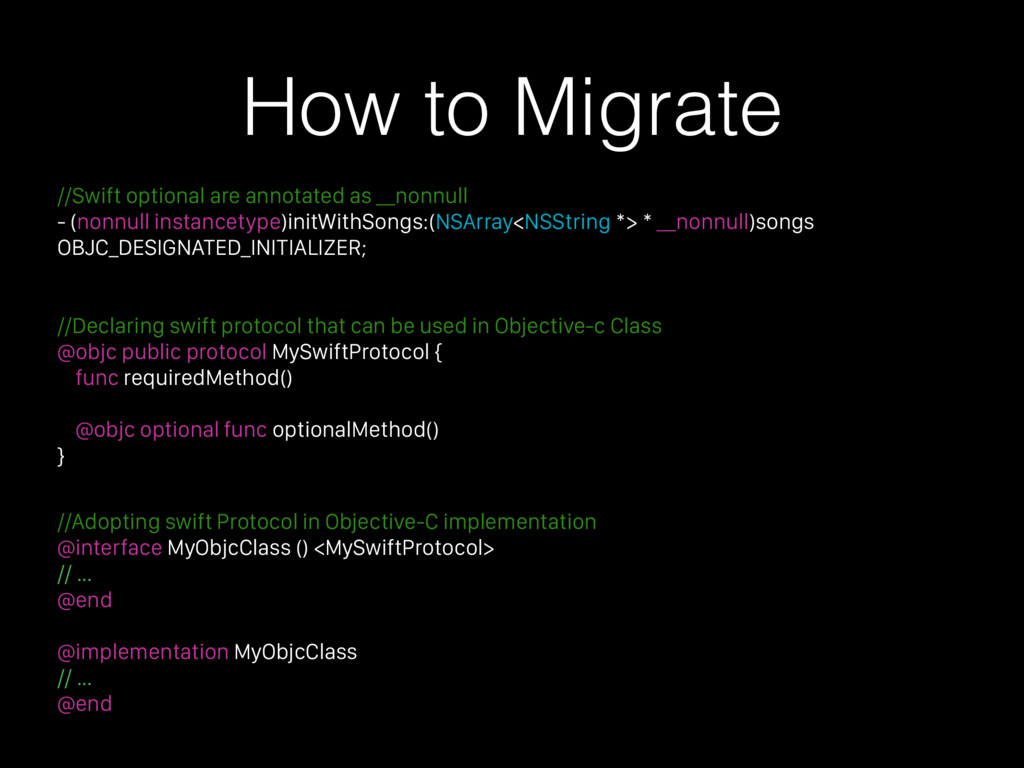 How to Migrate //Swift optional are annotated a...