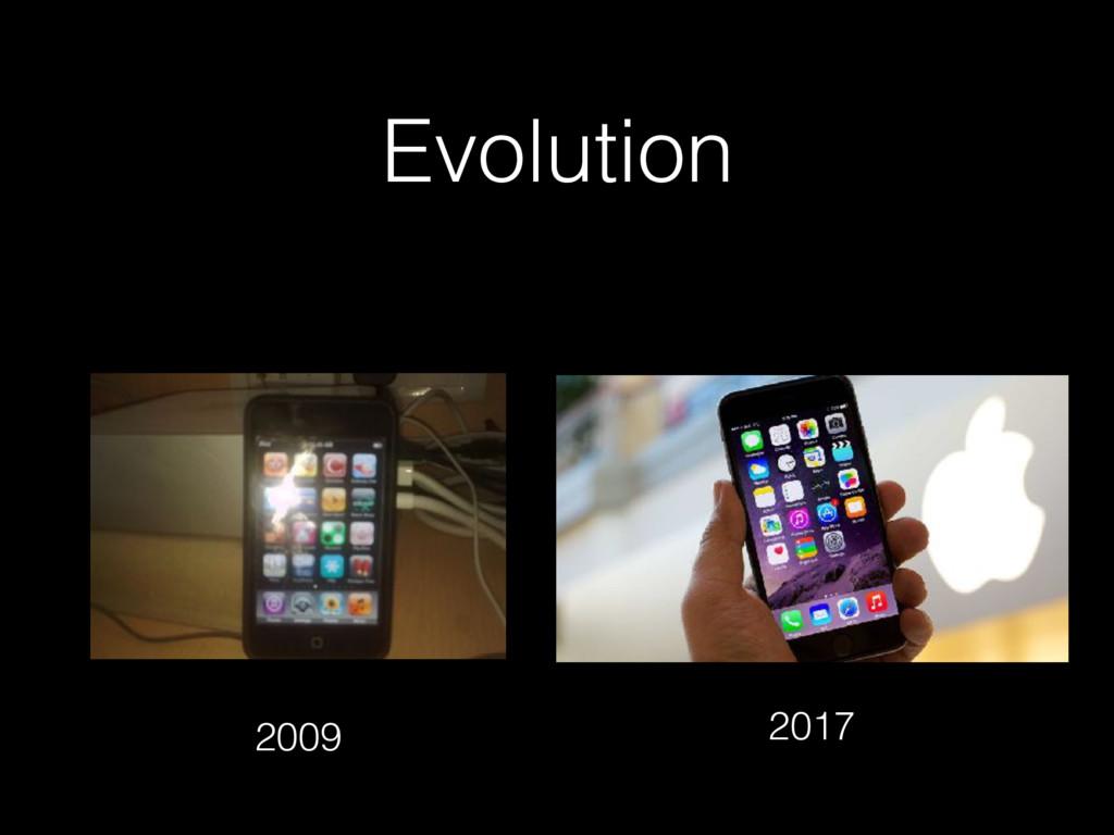 Evolution 2009 2017