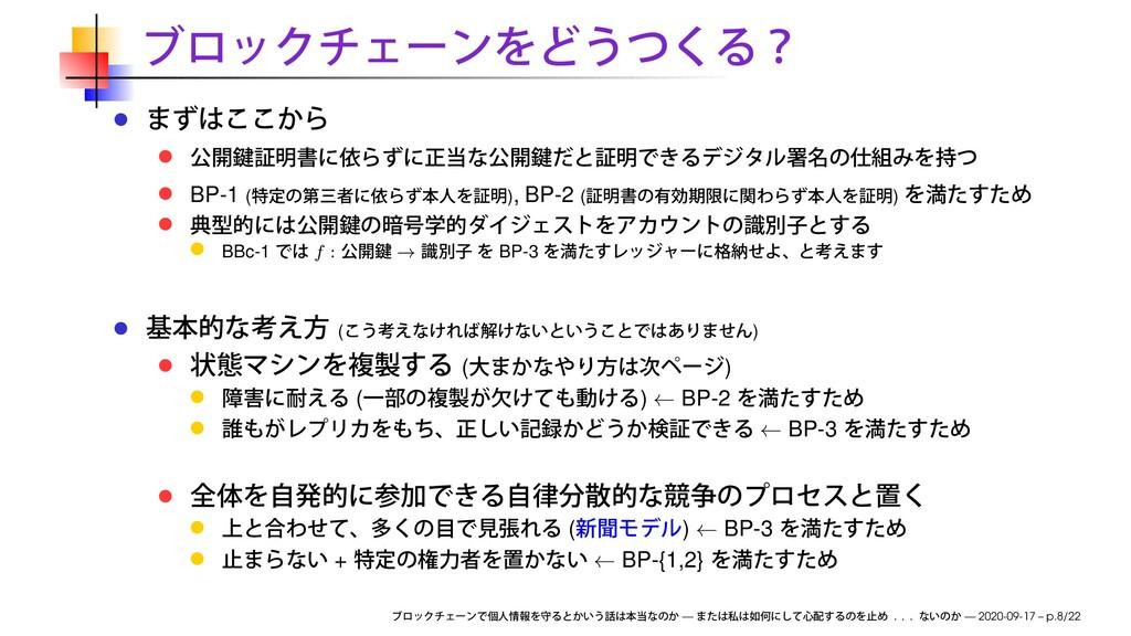 BP-1 ( ), BP-2 ( ) BBc-1 f : → BP-3 ( ) ( ) ( )...