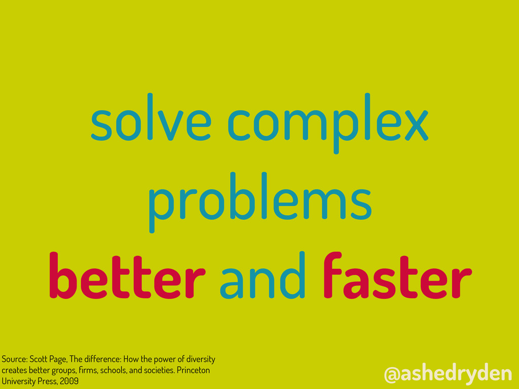 @ashedryden solve complex problems better and f...