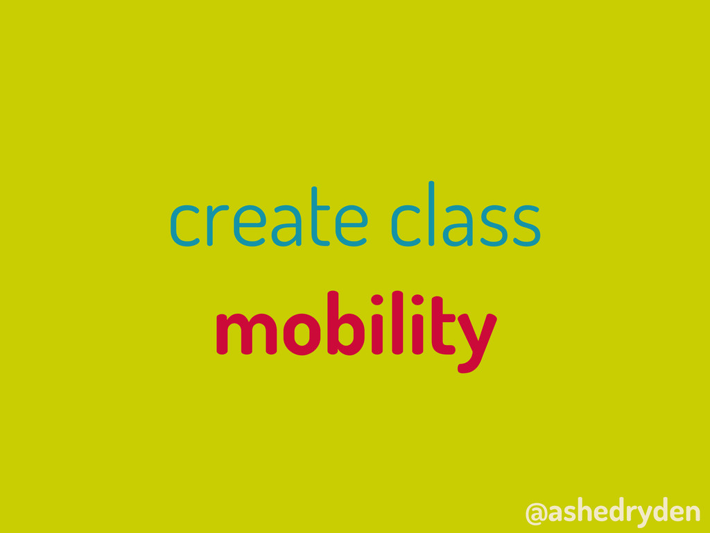 @ashedryden create class mobility
