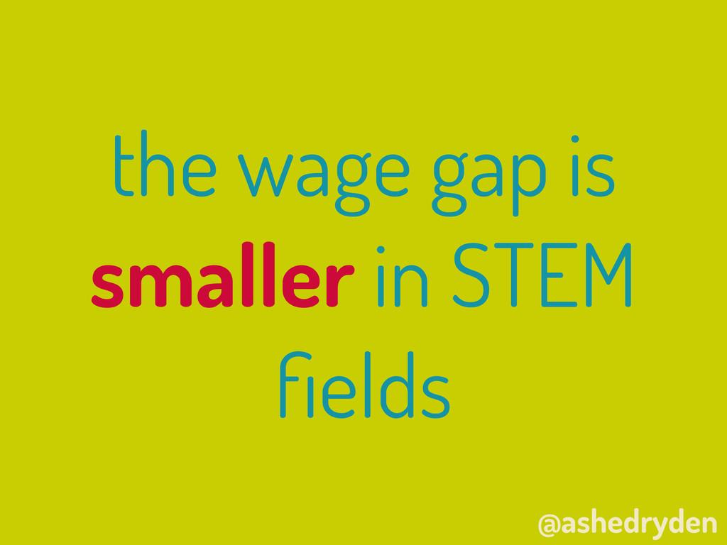 @ashedryden the wage gap is smaller in STEM fiel...