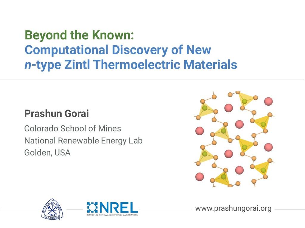 Prashun Gorai Beyond the Known: Computational D...