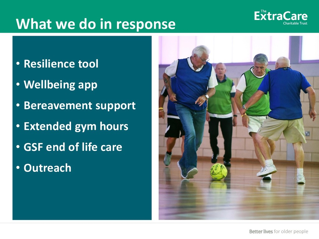 Better lives for older people What we do in res...