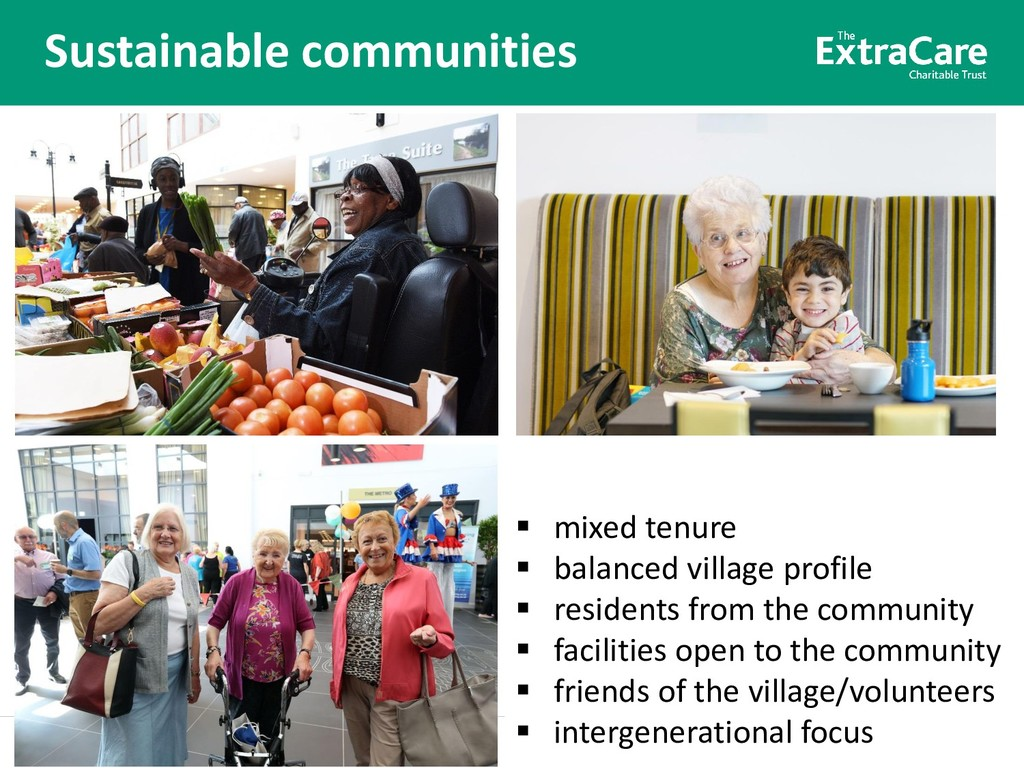 Better lives for older people Sustainable commu...