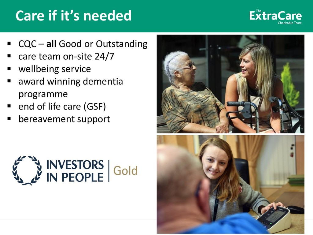 Better lives for older people Care if it's need...