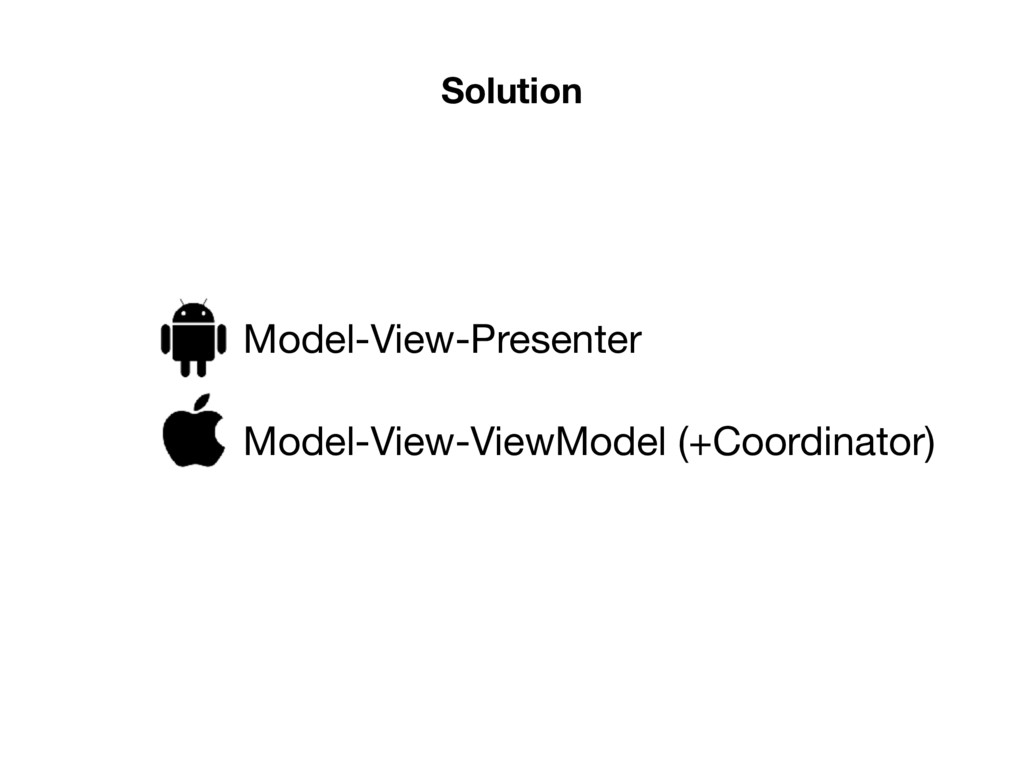 Solution Model-View-Presenter Model-View-ViewMo...