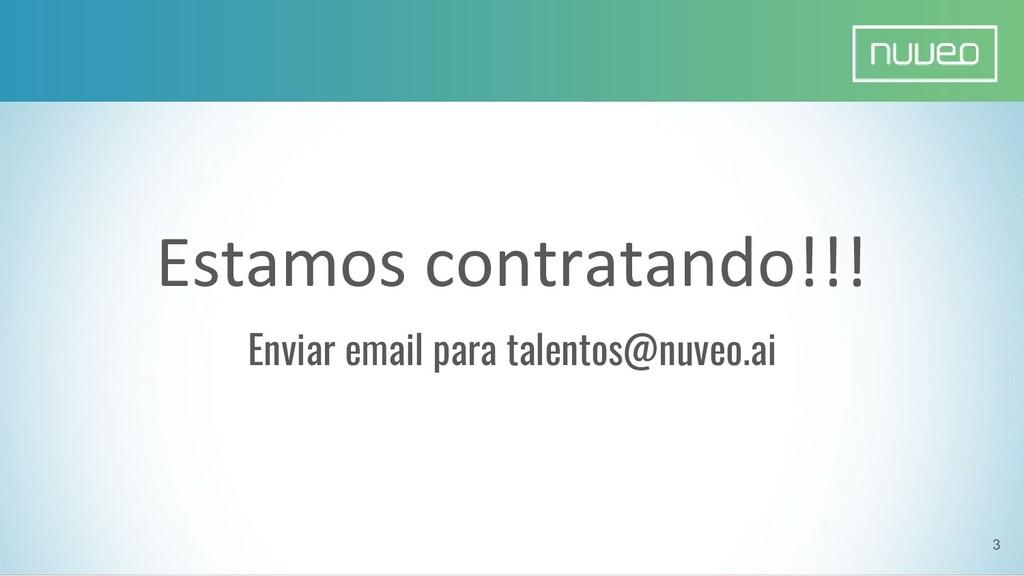 Estamos contratando!!! Enviar email para talent...