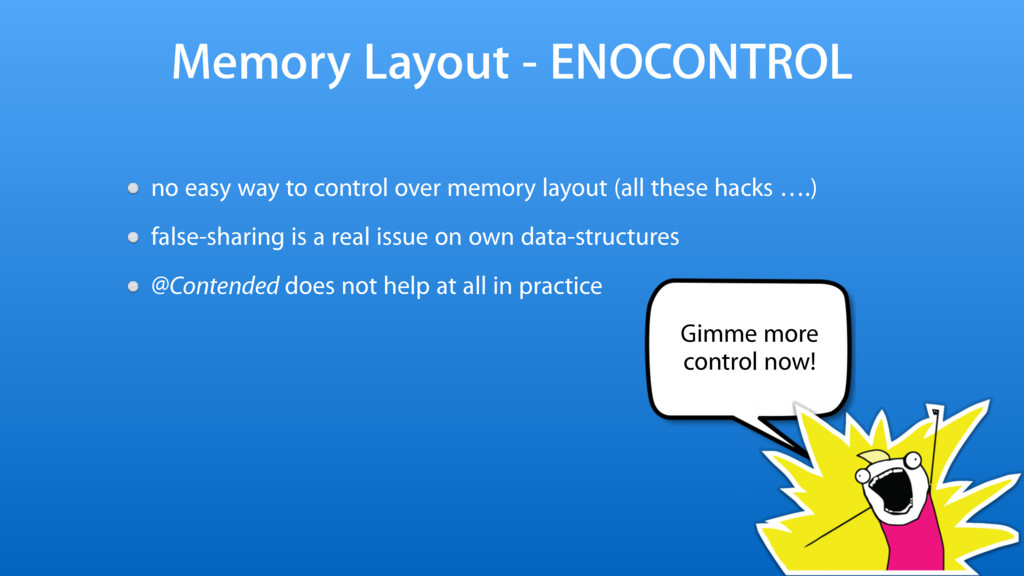 Memory Layout - ENOCONTROL no easy way to contr...
