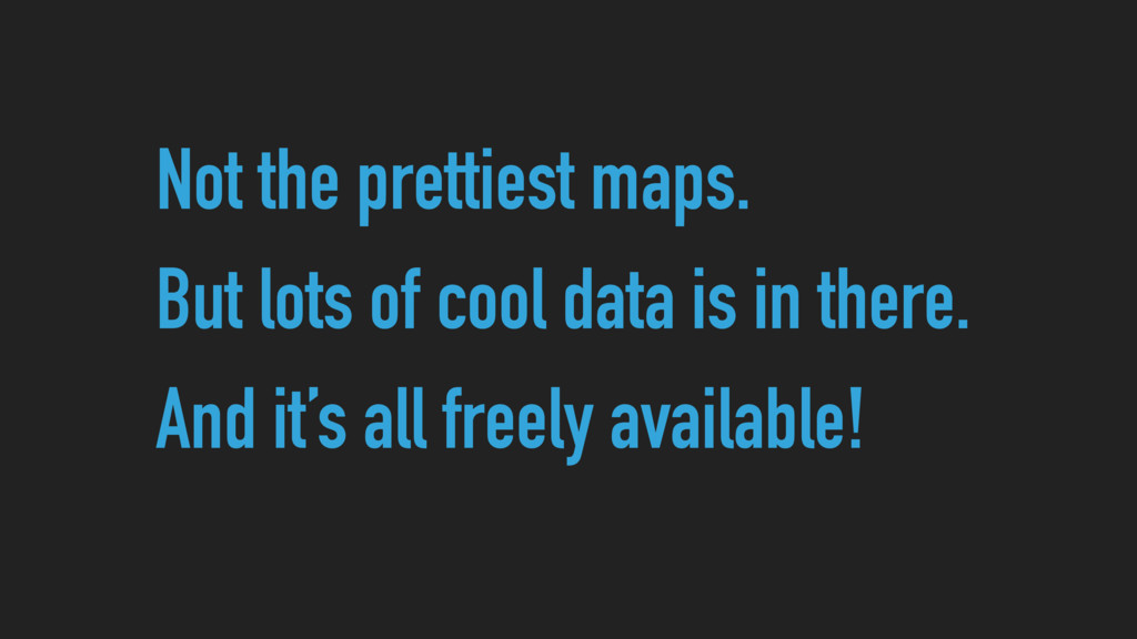 Not the prettiest maps. But lots of cool data i...
