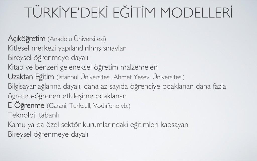 Açıköğretim (Anadolu Üniversitesi)