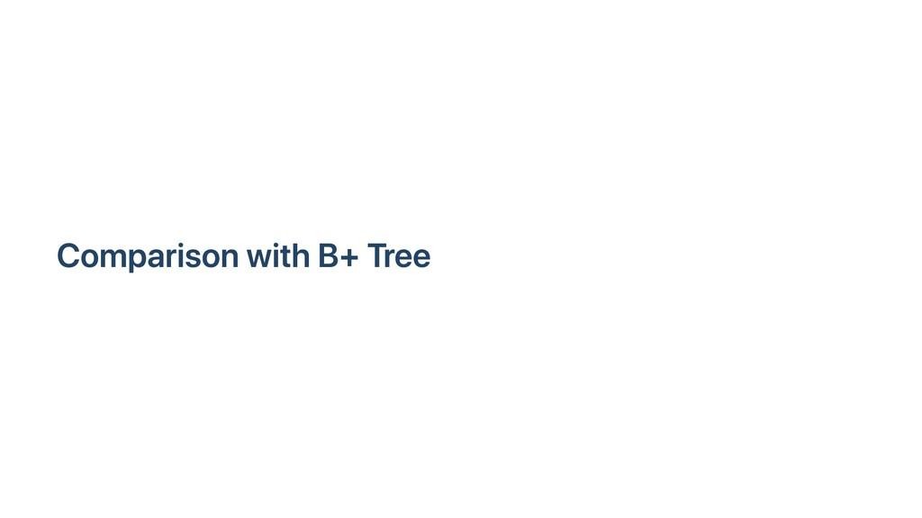 Comparison with B+ Tree