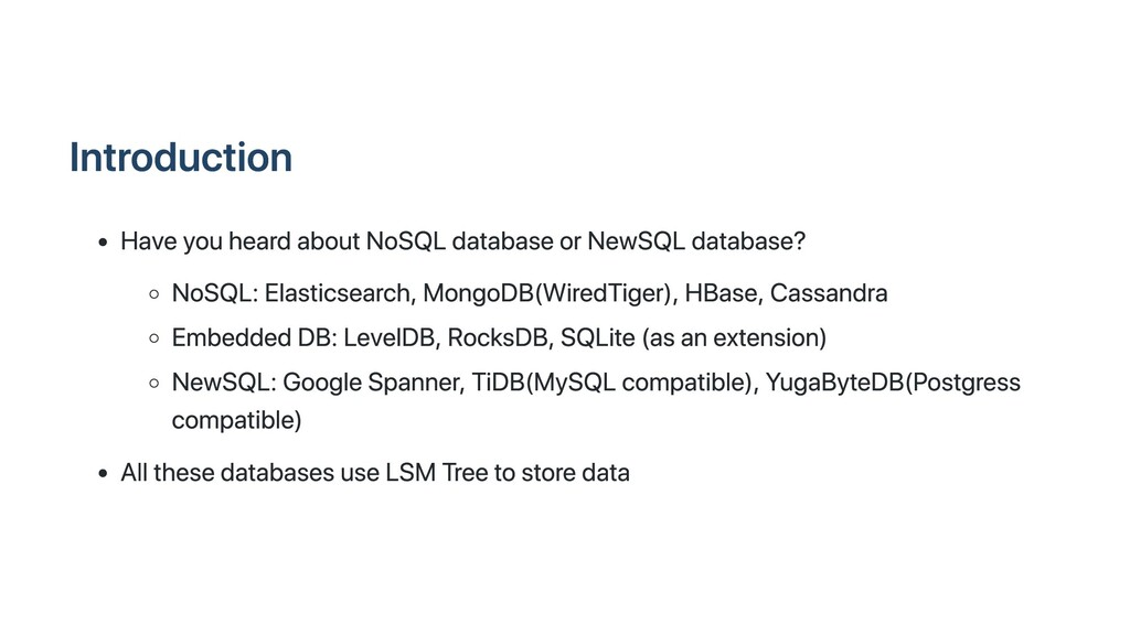 Introduction Have you heard about NoSQL databas...
