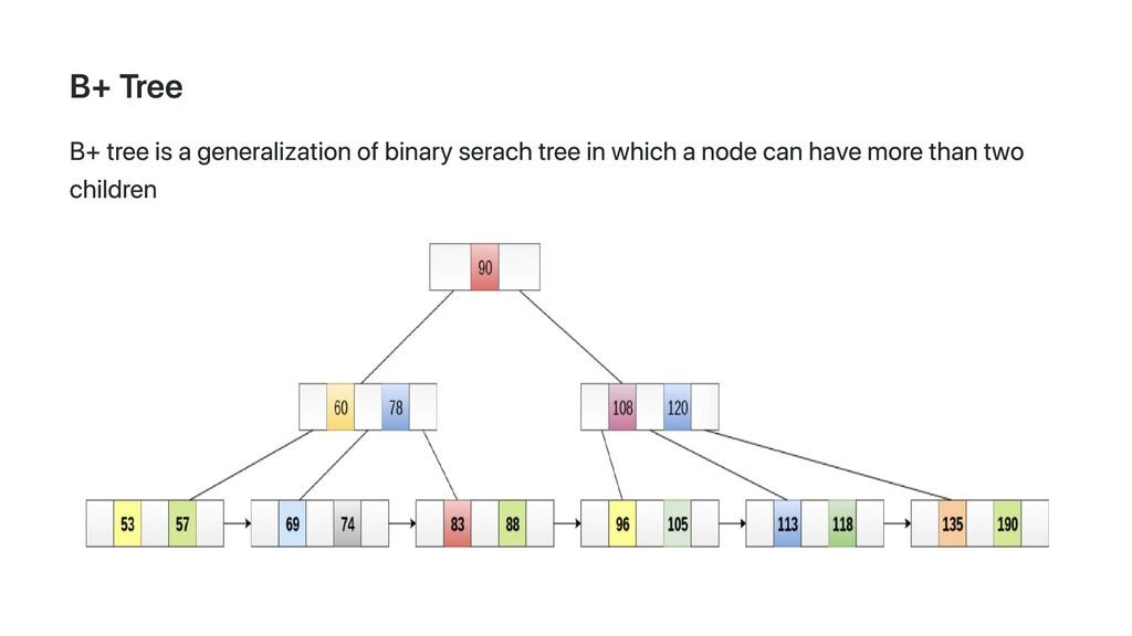 B+ Tree B+ tree is a generalization of binary s...