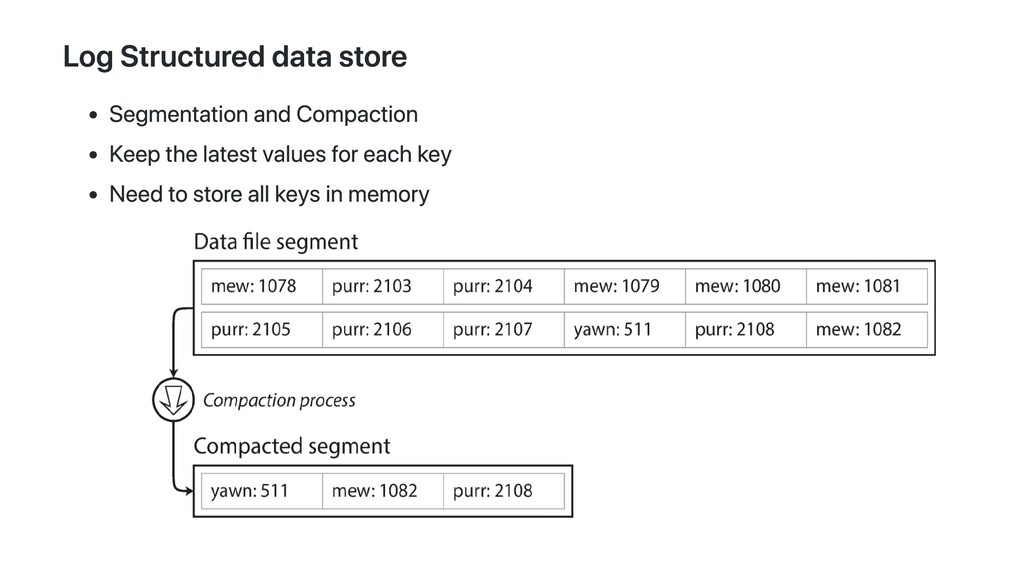 Log Structured data store Segmentation and Comp...