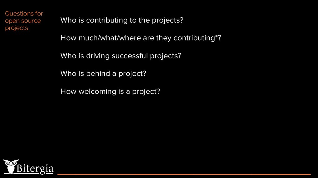 Who is contributing to the projects? How much/w...