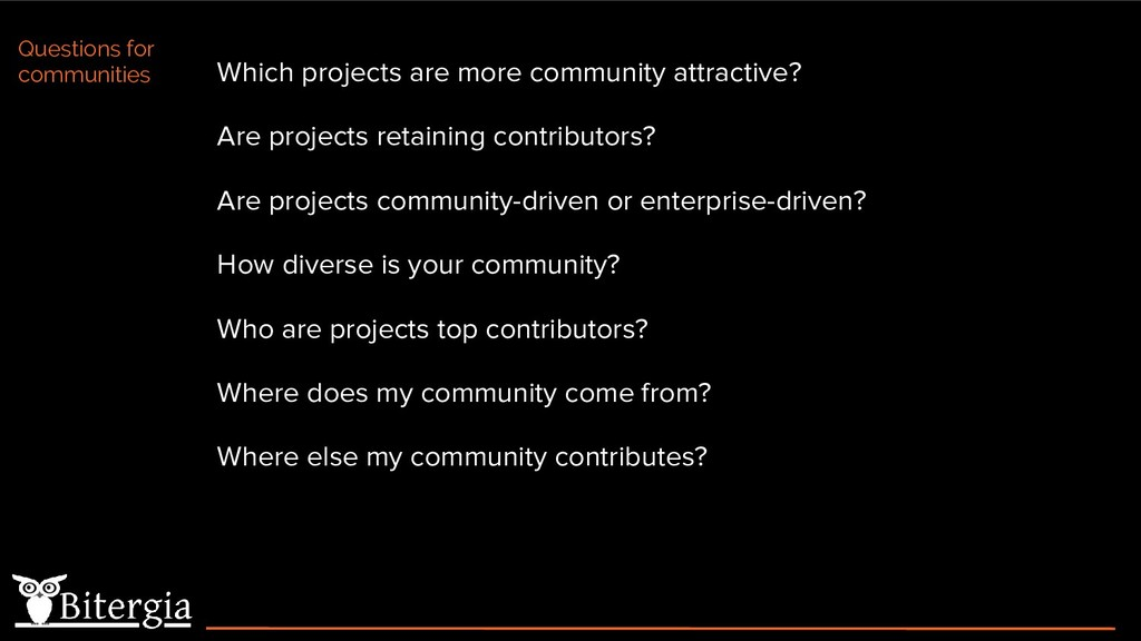 Which projects are more community attractive? A...