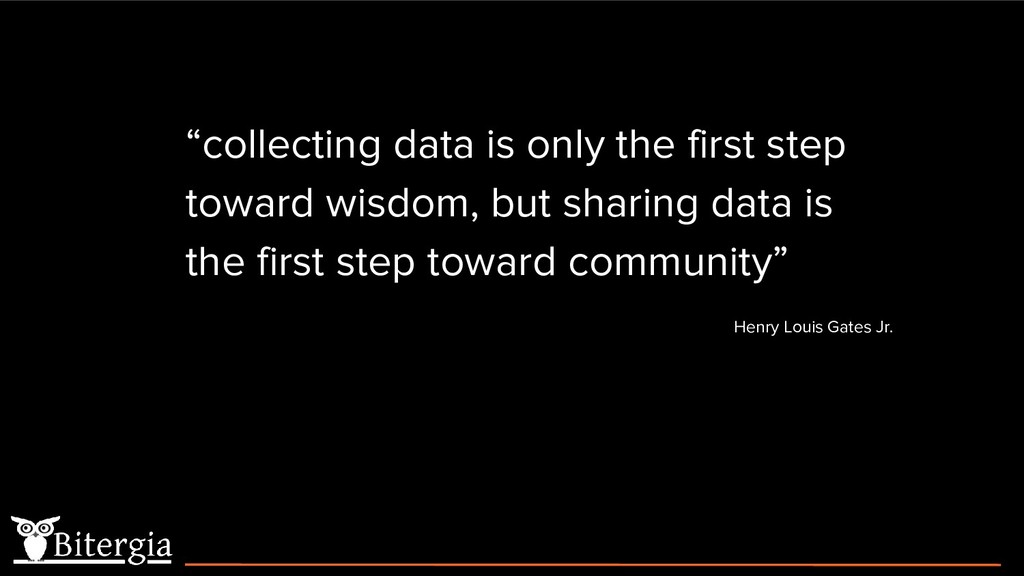 """collecting data is only the first step toward ..."