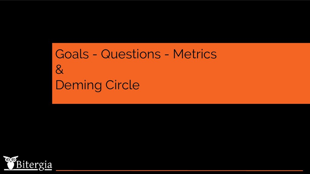 Goals - Questions - Metrics & Deming Circle