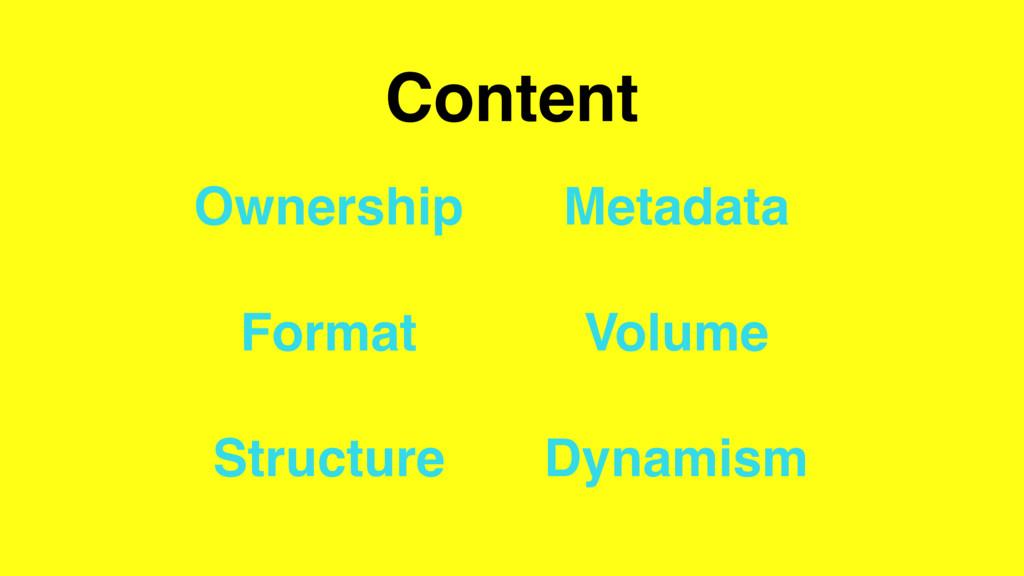 Content Ownership Format Structure Metadata Vol...