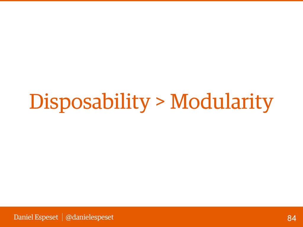 Daniel Espeset @danielespeset Disposability > M...