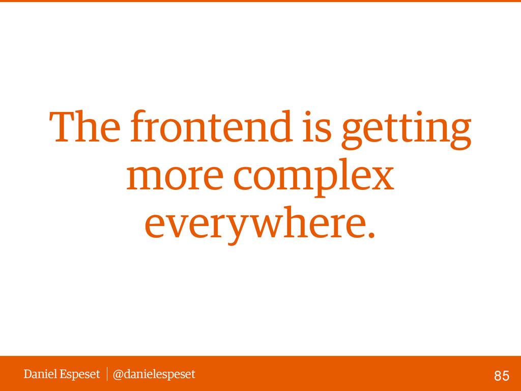 Daniel Espeset @danielespeset The frontend is g...