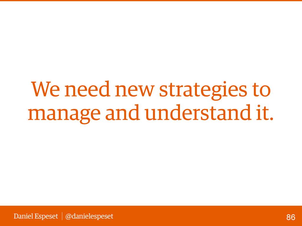 Daniel Espeset @danielespeset We need new strat...