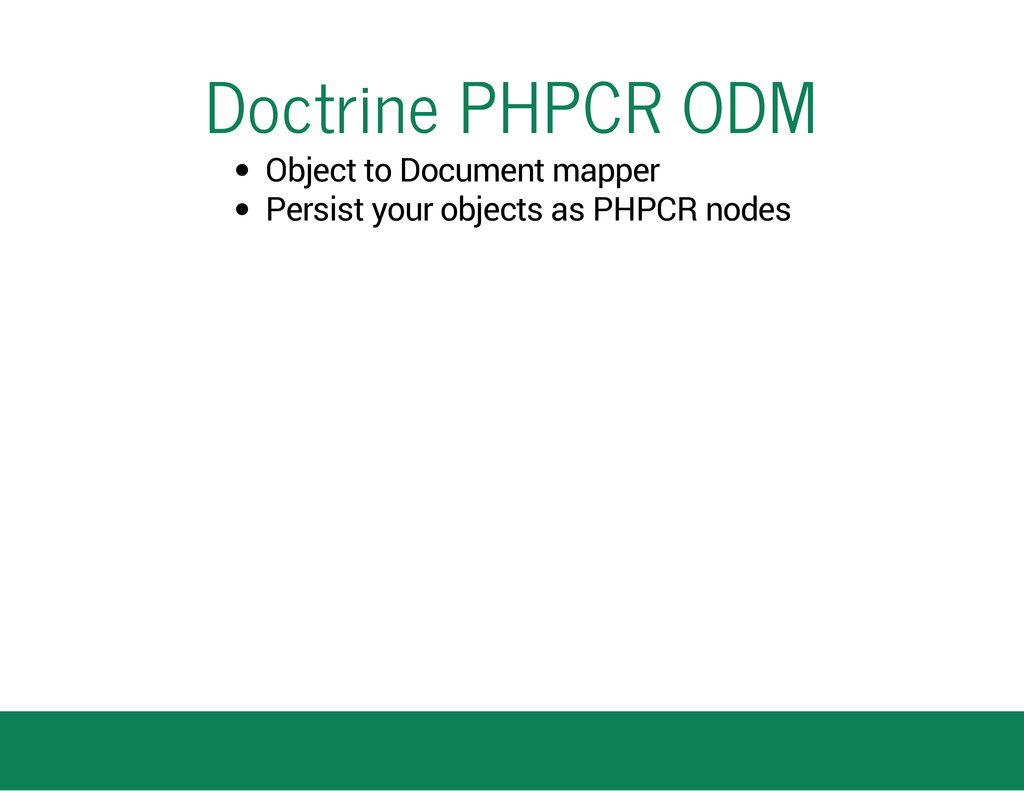 Doctrine PHPCR ODM Object to Document mapper Pe...