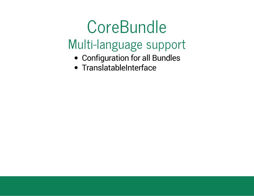 CoreBundle Multi-language support Configuration...
