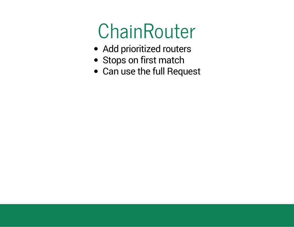 ChainRouter Add prioritized routers Stops on fi...