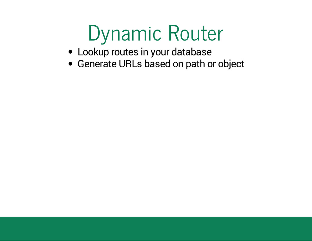 Dynamic Router Lookup routes in your database G...