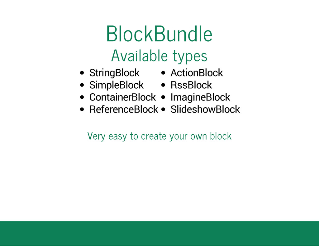 BlockBundle Available types StringBlock SimpleB...