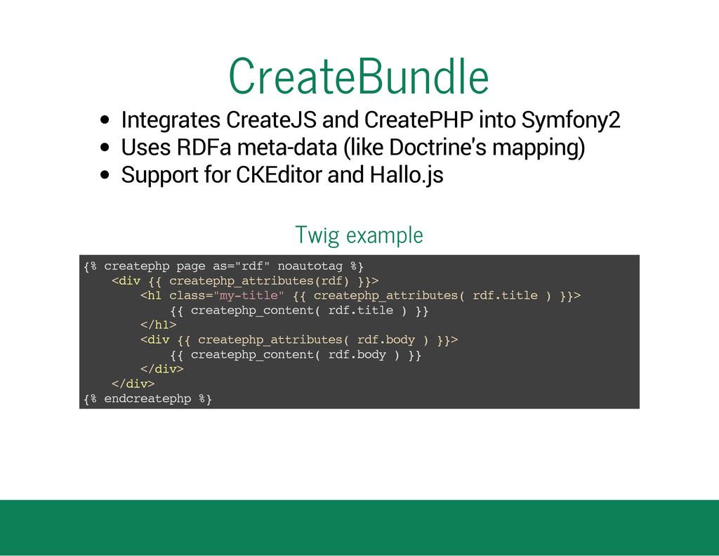CreateBundle Integrates CreateJS and CreatePHP ...