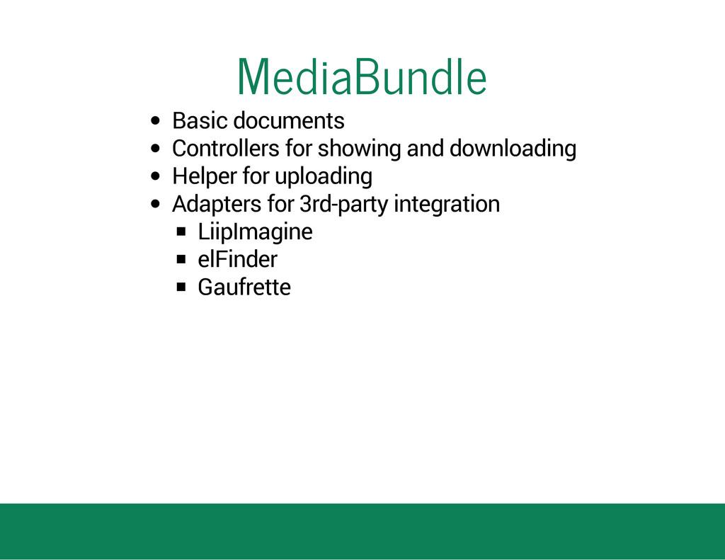 MediaBundle Basic documents Controllers for sho...