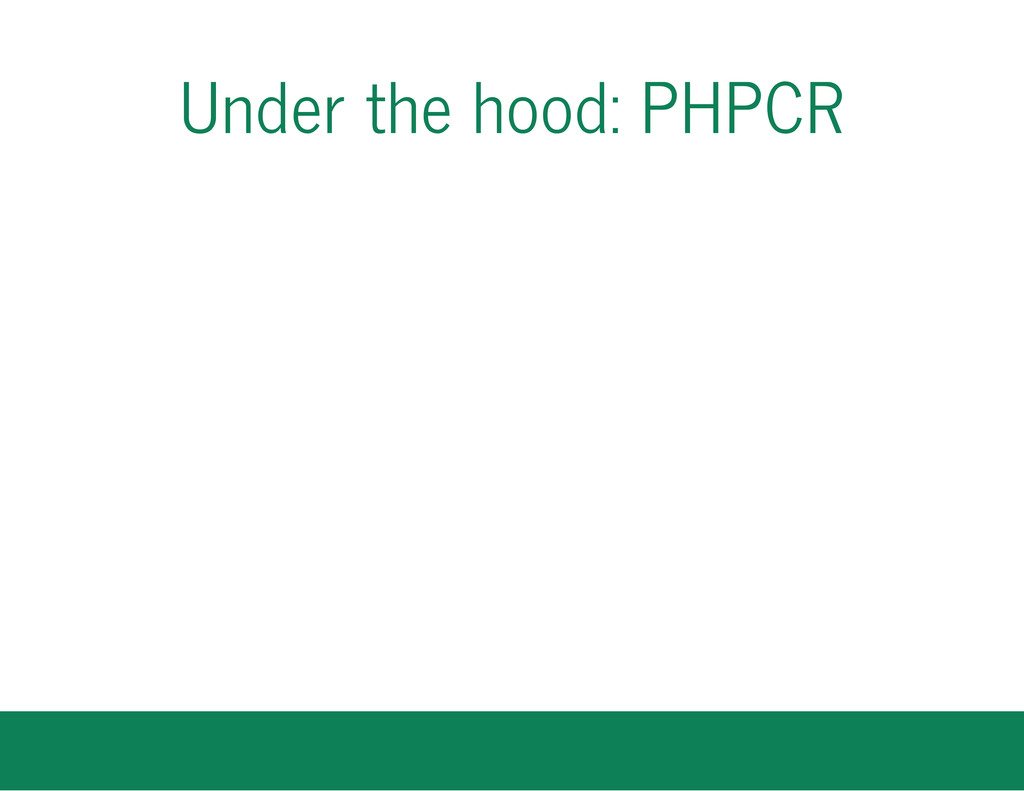 Under the hood: PHPCR