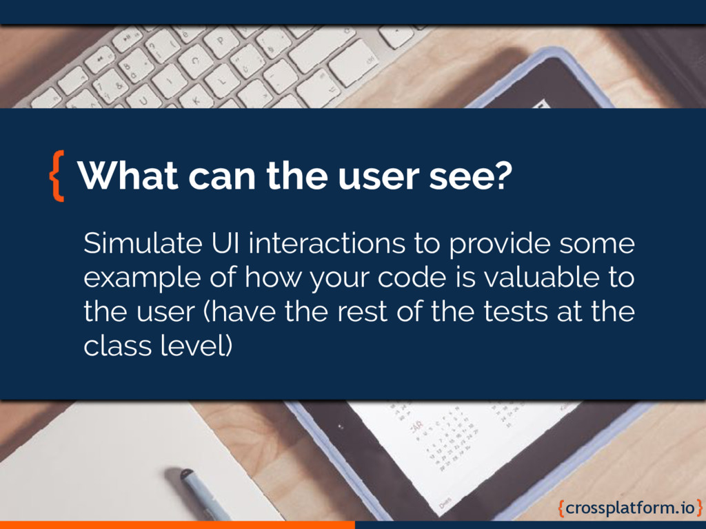 crossplatform.io What can the user see? Simulat...