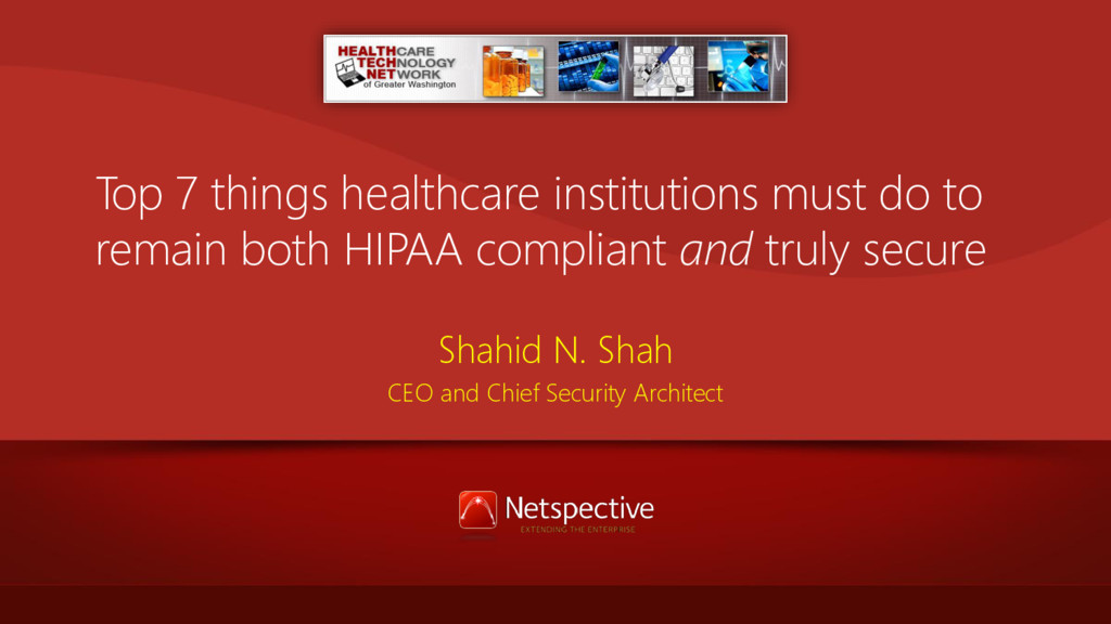 Top 7 things healthcare institutions must do to...