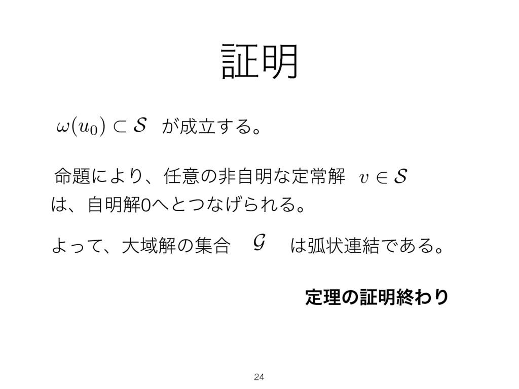 ূ໌ ཱ͕͢Δɻ !(u0) ⇢ S ໋ʹΑΓɺҙͷඇࣗ໌ͳఆৗղ v 2 S ɺࣗ໌...