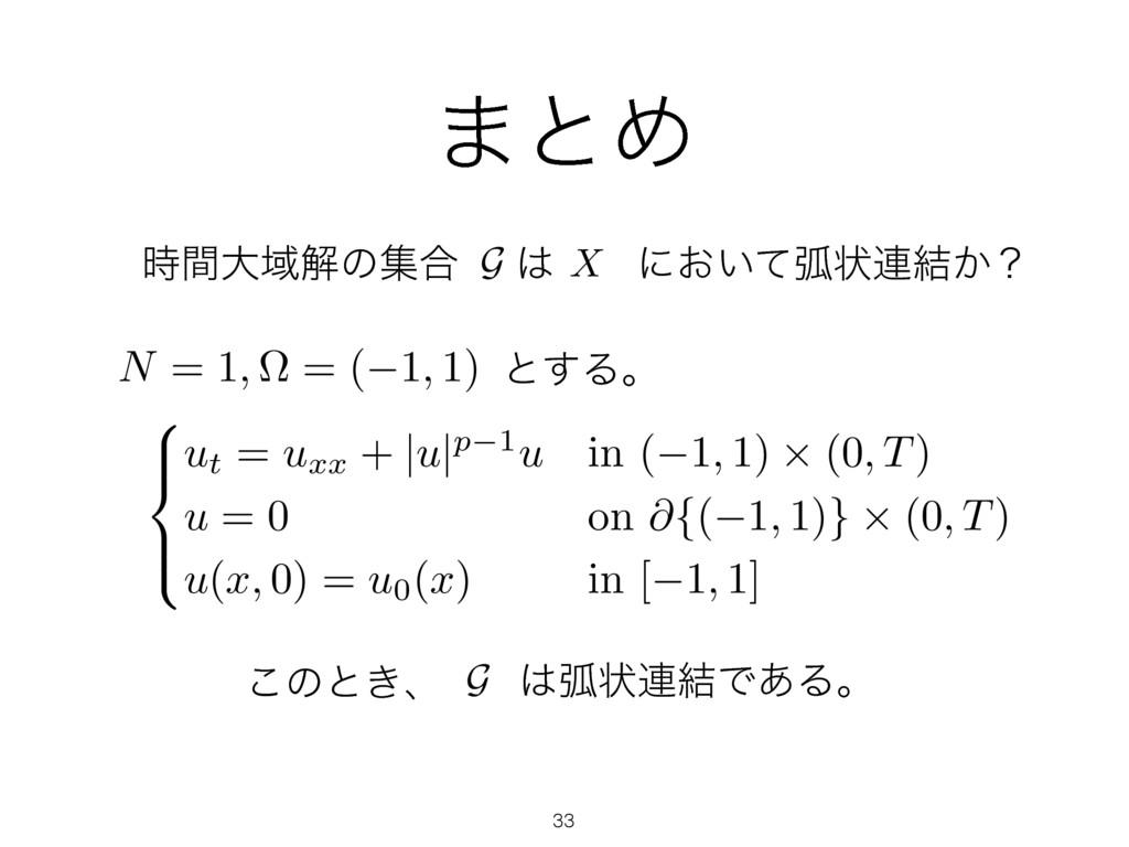 ·ͱΊ ހঢ়࿈݁Ͱ͋Δɻ G ͜ͷͱ͖ɺ ͱ͢Δɻ 8 > < > : ut = uxx +...