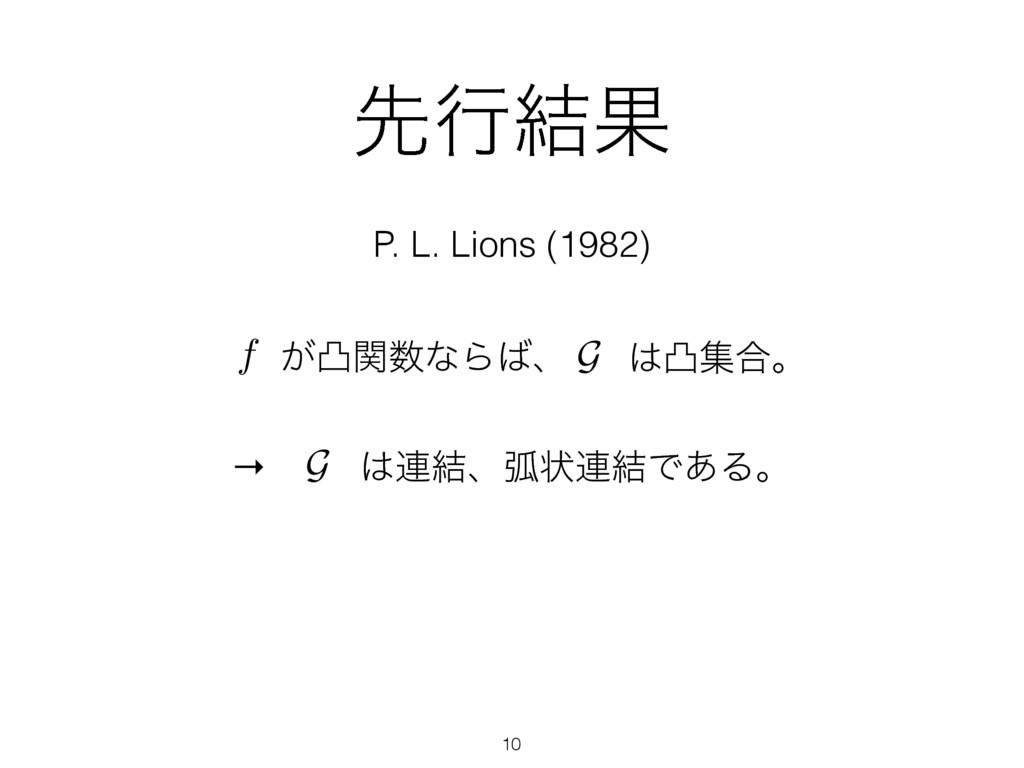 ઌߦ݁Ռ P. L. Lions (1982) ͕ತؔͳΒɺ f G ತू߹ɻ → G ...