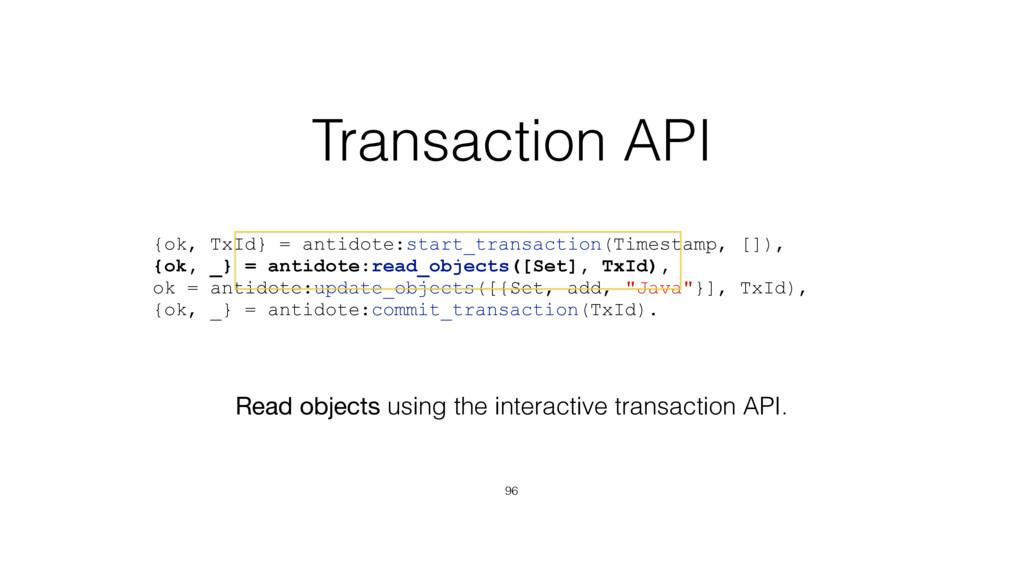 {ok, TxId} = antidote:start_transaction(Timesta...