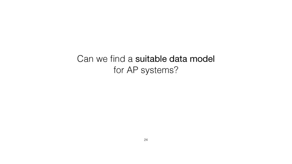 24 Can we find a suitable data model for AP syst...