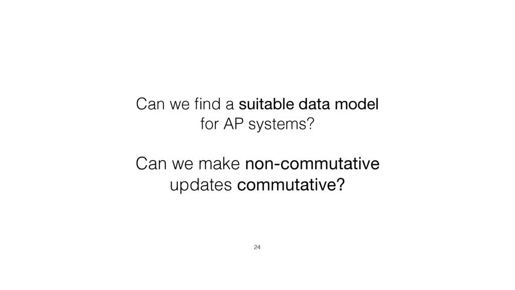 Can we make non-commutative updates commutative...