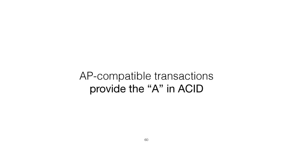 "AP-compatible transactions provide the ""A"" in A..."