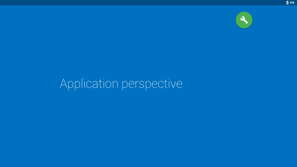 Application perspective 21%