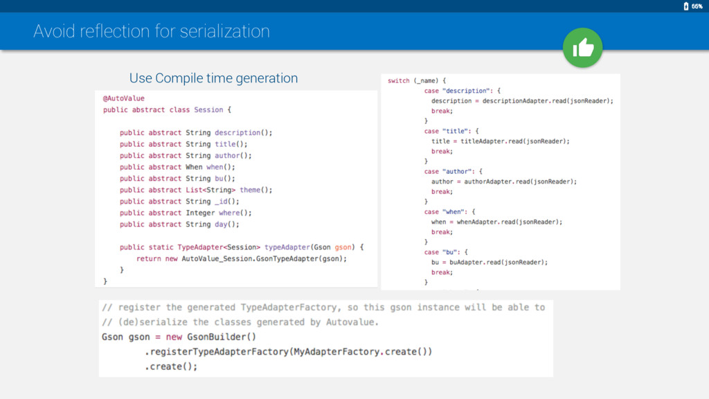 Avoid reflection for serialization Use Compile ...